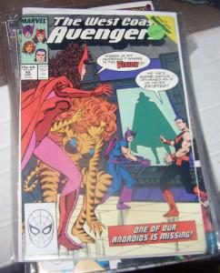 west coast avengers  # 42 MAR 1989 VISION QUEST WANDA HAWKEYE