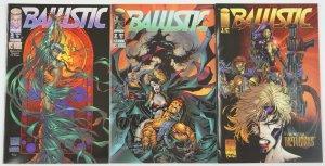 Ballistic #1-3 FN/VF complete series - Wetworks - Michael Turner - Image comics