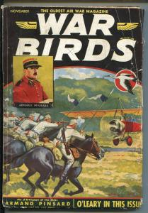 WAR BIRDS 11/1934-OLDEST AIR WAR PULP-UNIQUE COVER-TERENCE X O'LEARY STORY-vg