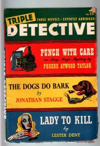 TRIPLE DETECTIVE FALL 1947-LESTER DENT STORY-HARD BOILED PULP VG