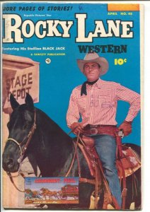 Rocky Lane Western #48-1953-Fawcett- B-Western movie star photo cover-VG/FN
