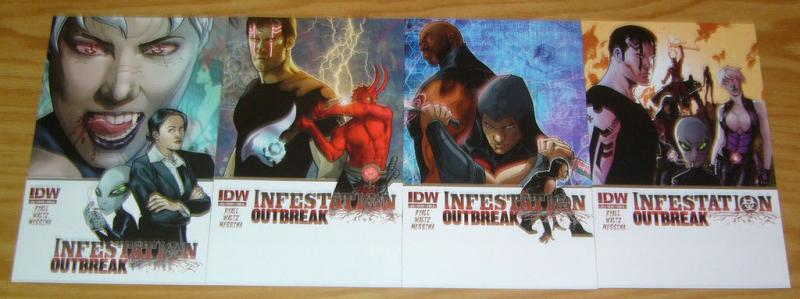 Infestation: Outbreak #1-4 VF/NM complete series ALL A VARIANTS comics set 2 3