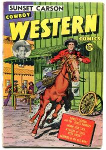 Cowboy Western #35 1951- Sunset Carson- Devil Weed Valley G
