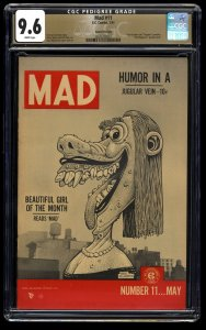 Mad #11 CGC NM+ 9.6 White Pages Gaines File Copy