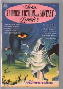 Avon Science Fiction & Fantasy Reader #1 1953-Arthur C Clarke-John Jakes