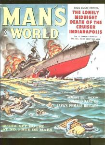 MAN'S WORLD AUGUST 1959-JACK RICHARD-AL ROSSI-CRIME-CHEESECAKE-FN+