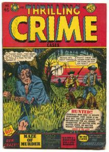 Thrilling Crime Cases #45 1951- RARE COMICS- LB Cole cover Vg/F
