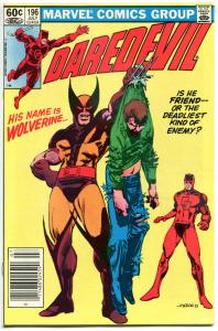 DAREDEVIL #196, NM, Wolverine, Jason, 1983, Marvel, more DD in store