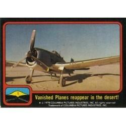1978 Topps Close Encounters VANISHED PLANES REAPPEAR IN THE DESERT
