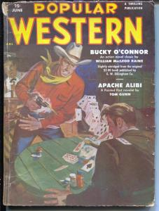 Popular Western 6/1951-Thrilling-Card game-poker chips-Bucky O'Connor-VG
