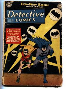 DETECTIVE Comics #164 Bat Signal cover-comic book Batman and Robin