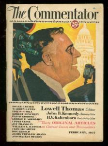 COMMENTATOR MAGAZINE #1 1937-FDR-JOHN B KENNEDY-RARE VG