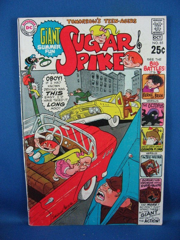 Sugar and Spike #85 (Sep-Oct 1969, DC) VG Fine Giant Summer Fun