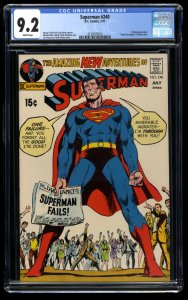 Superman #240 CGC NM- 9.2 White Pages Neal Adams Cover!
