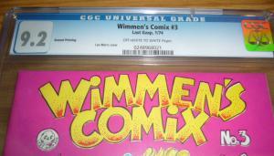 Wimmen's Comix #3 CGC 9.2 lee marrs - highest graded underground comix last gasp