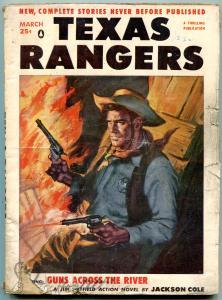 Texas Rangers Pulp March 1956- Jim Hattfield- Western G/VG