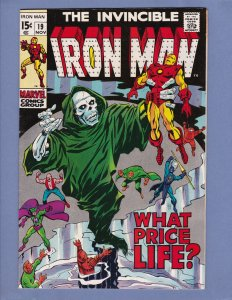 Iron Man #19 VF Captain America Appearance Marvel 1969 Silver Age