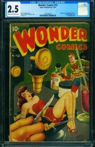 WONDER COMICS #15 CGC 2.5-1st TARA (origin)-Bondage-Schomburg-Classic 1419195013