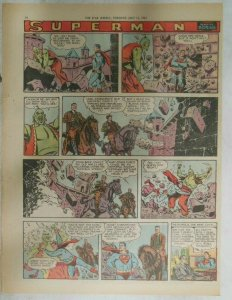 Superman Sunday Page #924 by Wayne Boring from 7/14/1957 Size ~11 x 15 inches