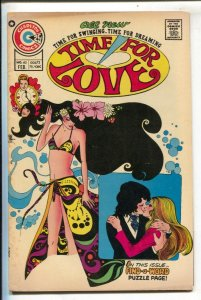 Time For Love #40 1975-Charlton-Psychedelic cover & story-puzzle page-FN-