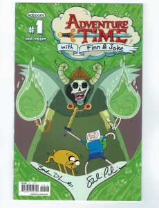Adventure Time with Finn & Jake #1 VF/NM signed Braden Lamb Shelli Paroline 3rd