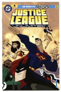 JUSTICE LEAGUE UNLIMITED #1-First issue cartoon comic book VF/NM