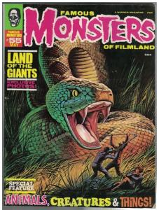 FAMOUS MONSTERS OF FILMLAND 55 VG May 1969