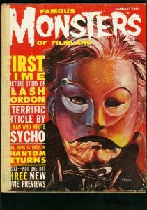 FAMOUS MONSTERS OF FILMLAND #10 1961-PHANTOM OF THE OPERA COVER-FLASH GORD P/FR