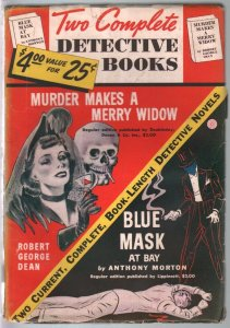 Two Complete Detective Books #1 Winter 1939-1st issue-The Blue Mask-VG