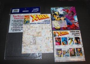 X-Men Postage Stamp Collector Set /  MINT  / 1995