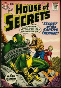 House of Secrets #37 1960- Mark Merlin- Alien cover VG