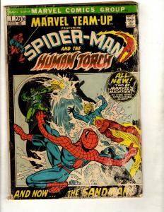 Marvel Team-Up # 1 VG- Comic Book Spider-Man Human Torch Avengers Hulk Thor WS9