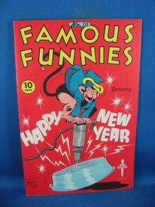 FAMOUS FUNNIES 138 VF+ BUCK ROGERS SCARLETT O NEIL 1946 NEW YEARS COVER