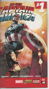 Captain America Variant, All-New  #1 (Jan-15) NM+ Super-High-Grade Captain Am...
