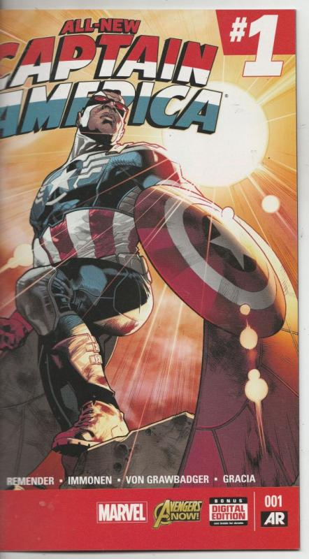 All-New Captain America Variant #1 (Jan-15) NM+ Super-High-Grade Captain Amer...
