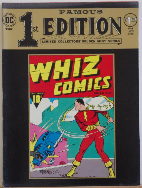 FAMOUS FIRST EDITION F-4 WHIZ COMICS #2, FN+,Treasury Sized,1974, Captain Marvel