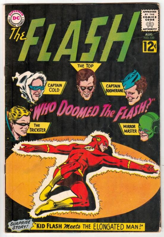 Flash, The #130 (Aug-62) VF+ High-Grade Flash
