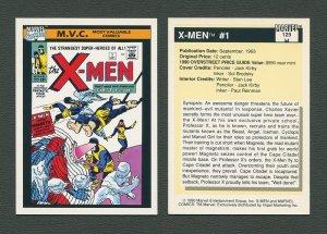 1990 Marvel Comics Card  #125 (X-Men #1 Cover) / MINT