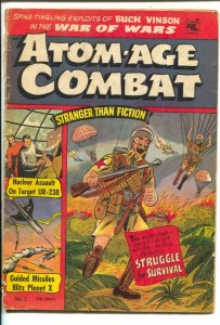 Atom-Age Combat #5 1953- Flying Saucer cover- St John Golden Age FN