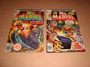 LOT OF 10 MS MARVEL COMICS BRONZE TO MODERN AGE