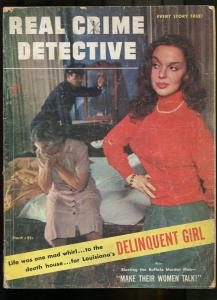 REAL CRIME DETECTIVE MAR 1945--FR/G--GREAT PHOTO COVER-SPICY--MAGAZINE FR/G