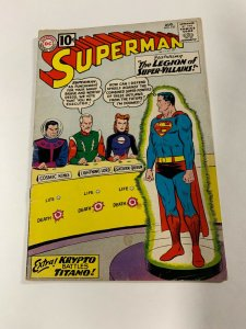 Superman 147 2.0 Good Gd Dc Silver Age Cover Detached Otherwise Complete