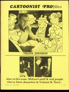 CARTOONIST PROFILES #62-1984-MILTON CANIFF FN
