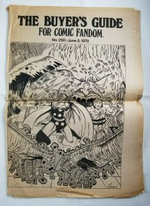 Buyers Guide For Comic Fandom #290 June 1979 - Wes Crum Thor Cover - VG