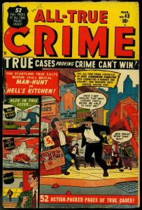 All-True Crime #43 1951- Hells Kitchen- Ugly Woman VG-