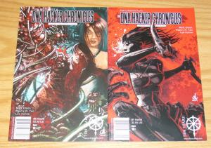 DNA Hacker Chronicles #1-2 VF/NM complete series - government natural selection