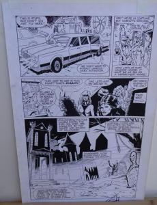 GREG HORN original art, FEMFORCE HOUSE OF HORROR #1 pg 5, Signed, Calvin, 1989