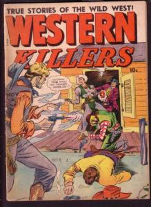 WESTERN KILLERS #61 FOX 1948 BILLY THE KID VIOLENCE G/VG