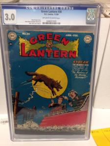Green Lantern 36 Cgc 3.0 Off White To White Pages Scarce Golden Age