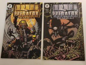 Aliens VS. Predator Duel #1-2 Complete Set High Grade NM Dark Horse 1995